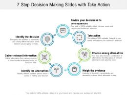 7 Step Decision Making Slides With Take Action