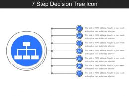 7 Step Decision Tree Icon Presentation Ideas