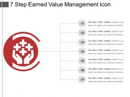 7 Step Earned Value Management Icon
