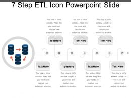 7 Step Etl Icon Powerpoint Slide