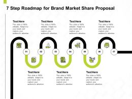 7 Step Roadmap For Brand Market Share Proposal Ppt Powerpoint Presentation Slides