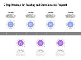 7 Step Roadmap For Branding And Communication Proposal Ppt Show Gallery