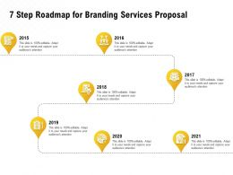 7 Step Roadmap For Branding Services Proposal Ppt Powerpoint Icon Example
