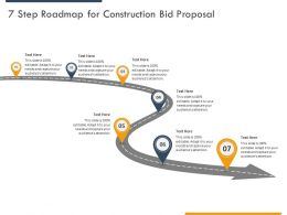 7 Step Roadmap For Construction Bid Proposal Ppt Powerpoint Presentation Styles Diagrams