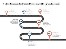 7 Step Roadmap For Sports Development Program Proposal Ppt Powerpoint Presentation Templates