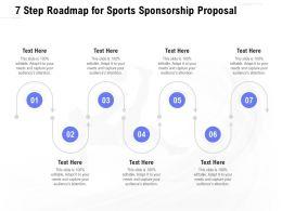 7 Step Roadmap For Sports Sponsorship Proposal Ppt Powerpoint Presentation Portrait