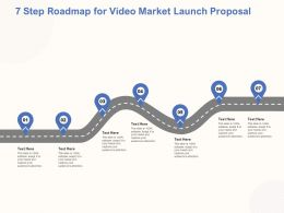 7 Step Roadmap For Video Market Launch Proposal Ppt Powerpoint Topics