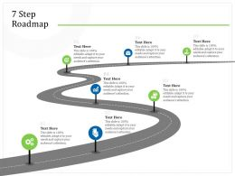 7 Step Roadmap M2265 Ppt Powerpoint Presentation Outline Deck