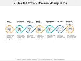 7 Step To Effective Decision Making Slides