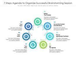 7 Steps Agenda To Organize Successful Brainstorming Session