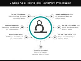 7 Steps Agile Testing Icon Powerpoint Presentation
