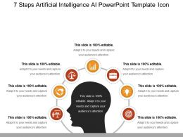 7 Steps Artificial Intelligence Ai Powerpoint Template Icon Powerpoint Slides