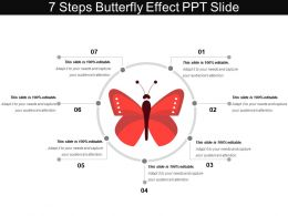 7 Steps Butterfly Effect Ppt Slide