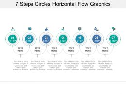 7 Steps Circles Horizontal Flow Graphics