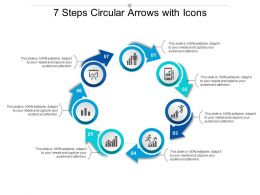 7 Steps Circular Arrows With Icons