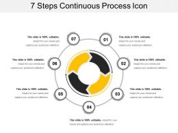 7 Steps Continuous Process Icon