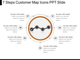 7 Steps Customer Map Icons Ppt Slide