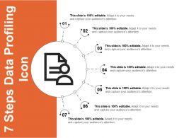 7 Steps Data Profiling Icon