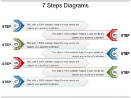 7 Steps Diagrams Ppt Slide Templates