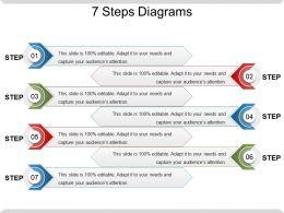 7 Steps Diagrams Ppt Slide Templates