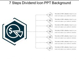 7 Steps Dividend Icon Ppt Background
