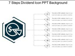 7_steps_dividend_icon_ppt_background_Slide01