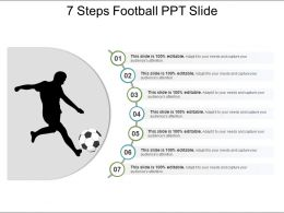 7 Steps Football Ppt Slide