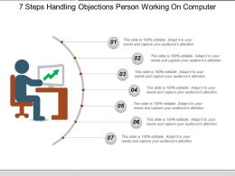 7 Steps Handling Objections Person Working On Computer