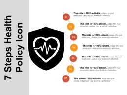 7 Steps Health Policy Icon