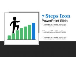7 Steps Icon Powerpoint Slide