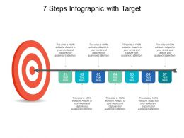 7 Steps Infographic With Target