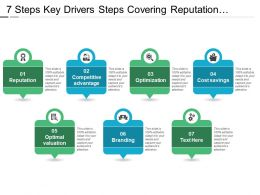 7 Steps Key Drivers Steps Covering Reputation Optimization Optimal Valuation And Branding