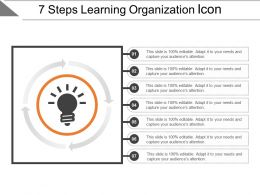 7 Steps Learning Organization Icon Powerpoint Slide