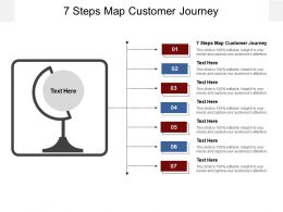 7 Steps Map Customer Journey Ppt Powerpoint Presentation Layouts Background Designs Cpb