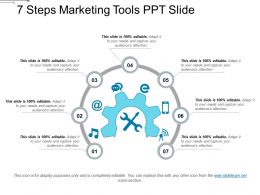 7 Steps Marketing Tools Ppt Slide