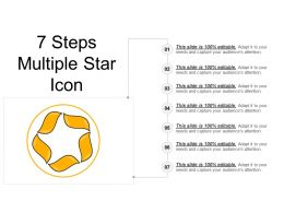7 Steps Multiple Star Icon Ppt Inspiration