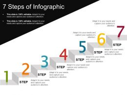 7 Steps Of Infographic Ppt Presentation Examples