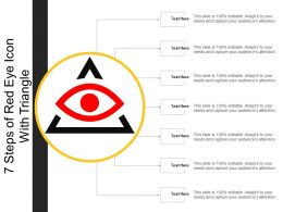 7 Steps Of Red Eye Icon With Triangle