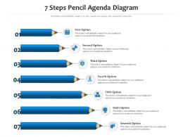 7 Steps Pencil Agenda Diagram