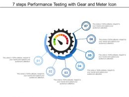 7 Steps Performance Testing With Gear And Meter Icon