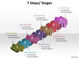 7 steps powerpoint Slides templates