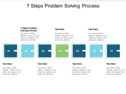 7 Steps Problem Solving Process Ppt Powerpoint Presentation Professional Layout Ideas Cpb