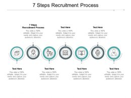 7 Steps Recruitment Process Ppt Powerpoint Presentation Outline Design Ideas Cpb