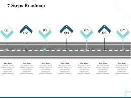 7 Steps Roadmap Audiences Attention Marketing Ppt Powerpoint Presentation Visuals