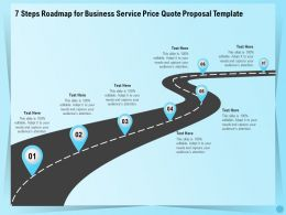 7 Steps Roadmap For Business Service Price Quote Proposal Template Ppt Demonstration