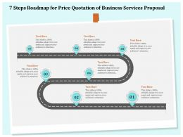 7 Steps Roadmap For Price Quotation Of Business Services Proposal Ppt File Brochure