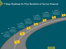 7 Steps Roadmap For Price Quotation Of Service Proposal Ppt File Topics