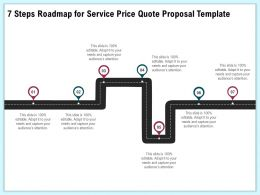 7 Steps Roadmap For Service Price Quote Proposal Template Ppt Icon