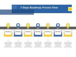 7 Steps Roadmap Process Flow M1249 Ppt Powerpoint Presentation Summary Rules