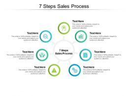 7 Steps Sales Process Ppt Powerpoint Presentation Deck Cpb